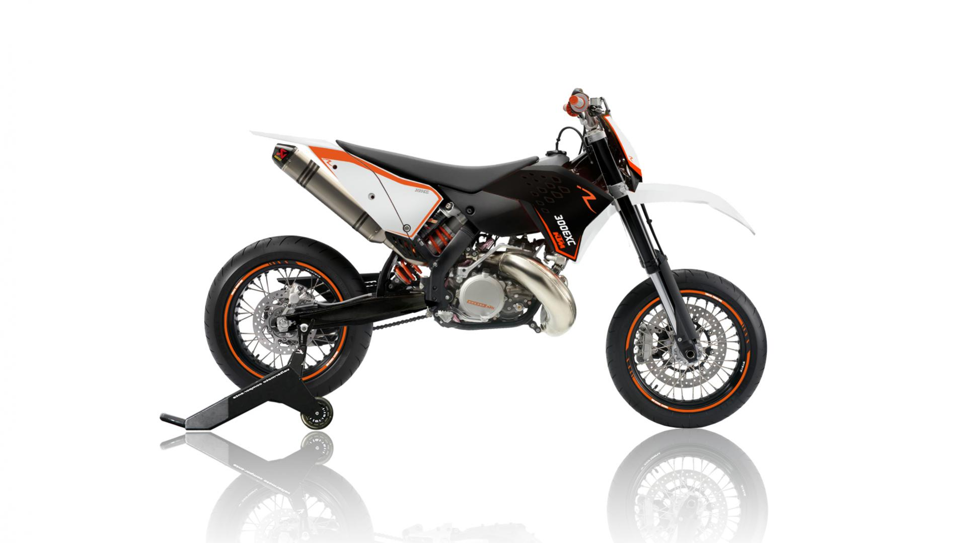 ktm 300 exc sm konzept zweitakt supermoto powerwheelie. Black Bedroom Furniture Sets. Home Design Ideas